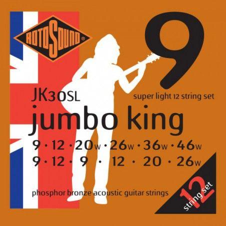 Rotosound Jumbo King JK30SL - Set 12 Corzi Chitara Acustica 09-46 Rotosound - 1