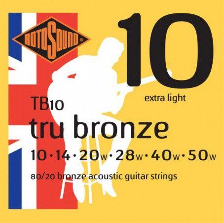 Rotosound Tru Bronze - Set Corzi Chitara Acustica 10-50 Rotosound - 1