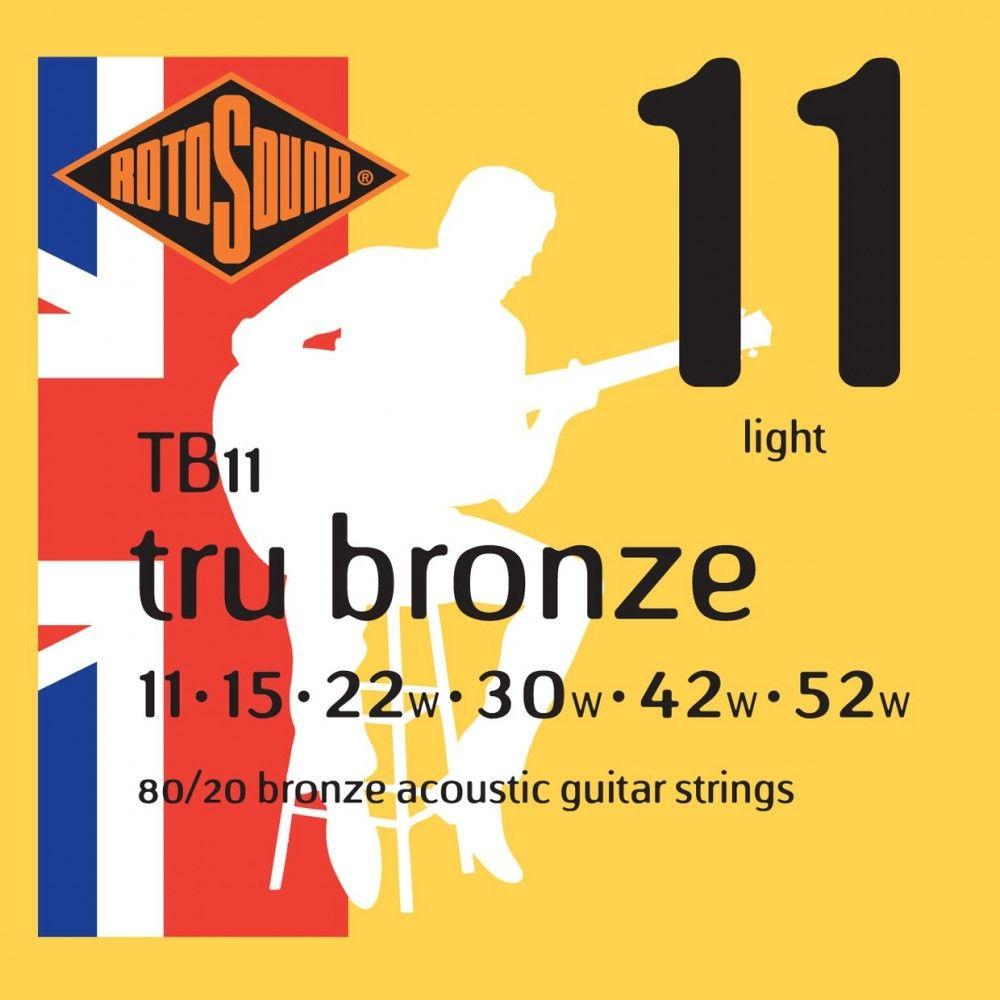 Rotosound Tru Bronze - Set Corzi Chitara Acustica 11-52 Rotosound - 1