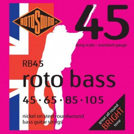 Rotosound Rotobass Regular RB45 - Set Corzi Chitara Bass 45-105 Rotosound - 1