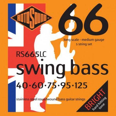 Rotosound Swing Bass RS665LC - Set 5 Corzi Chitara Bass 40-125 Rotosound - 1