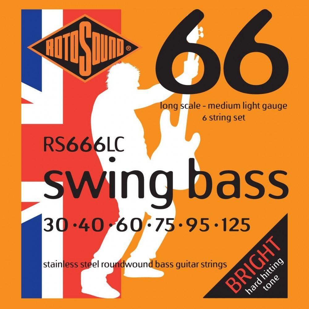 Rotosound Swing Bass RS666LC - Set 6 Corzi Chitara Bass 30-125 Rotosound - 1