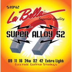La Bella SA942 - Set Corzi Chitara Electrica 09-42 La Bella - 1