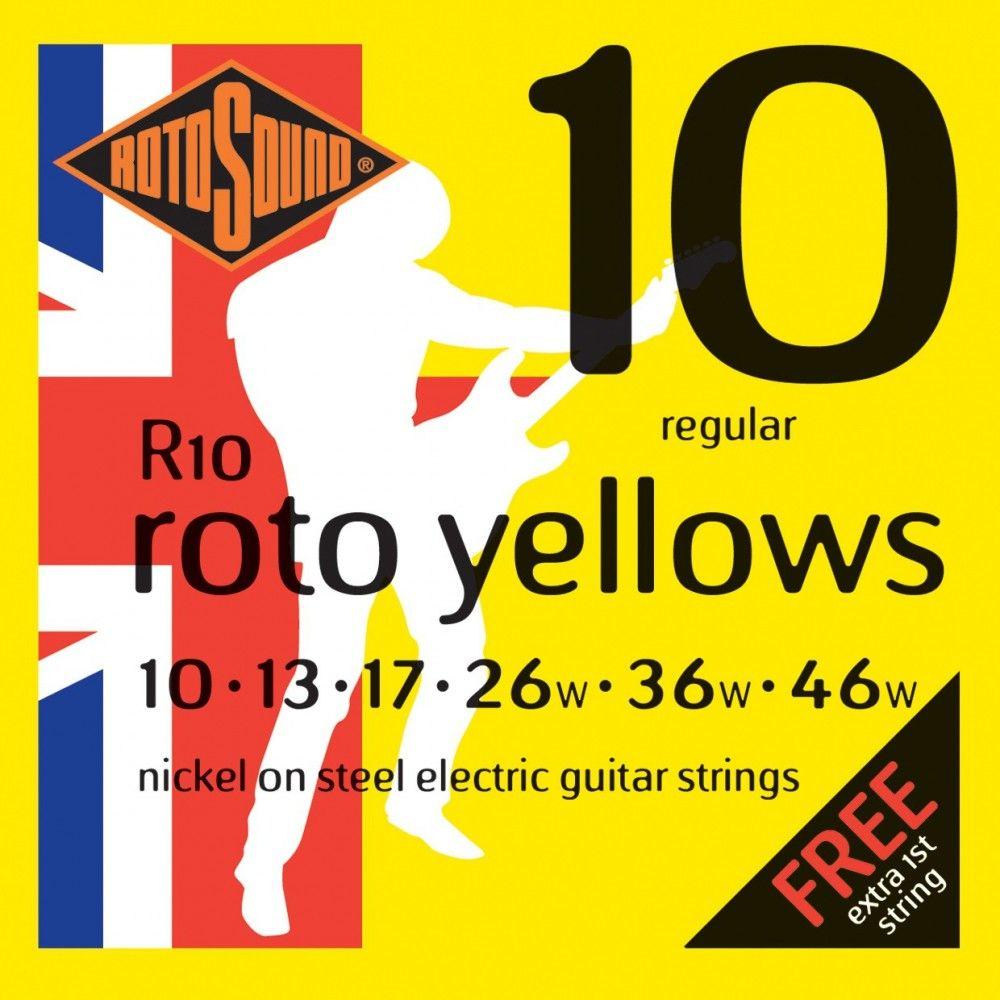 Rotosound Roto Yellows R10 - Set Corzi Chitara Electrica 10-46 Rotosound - 1