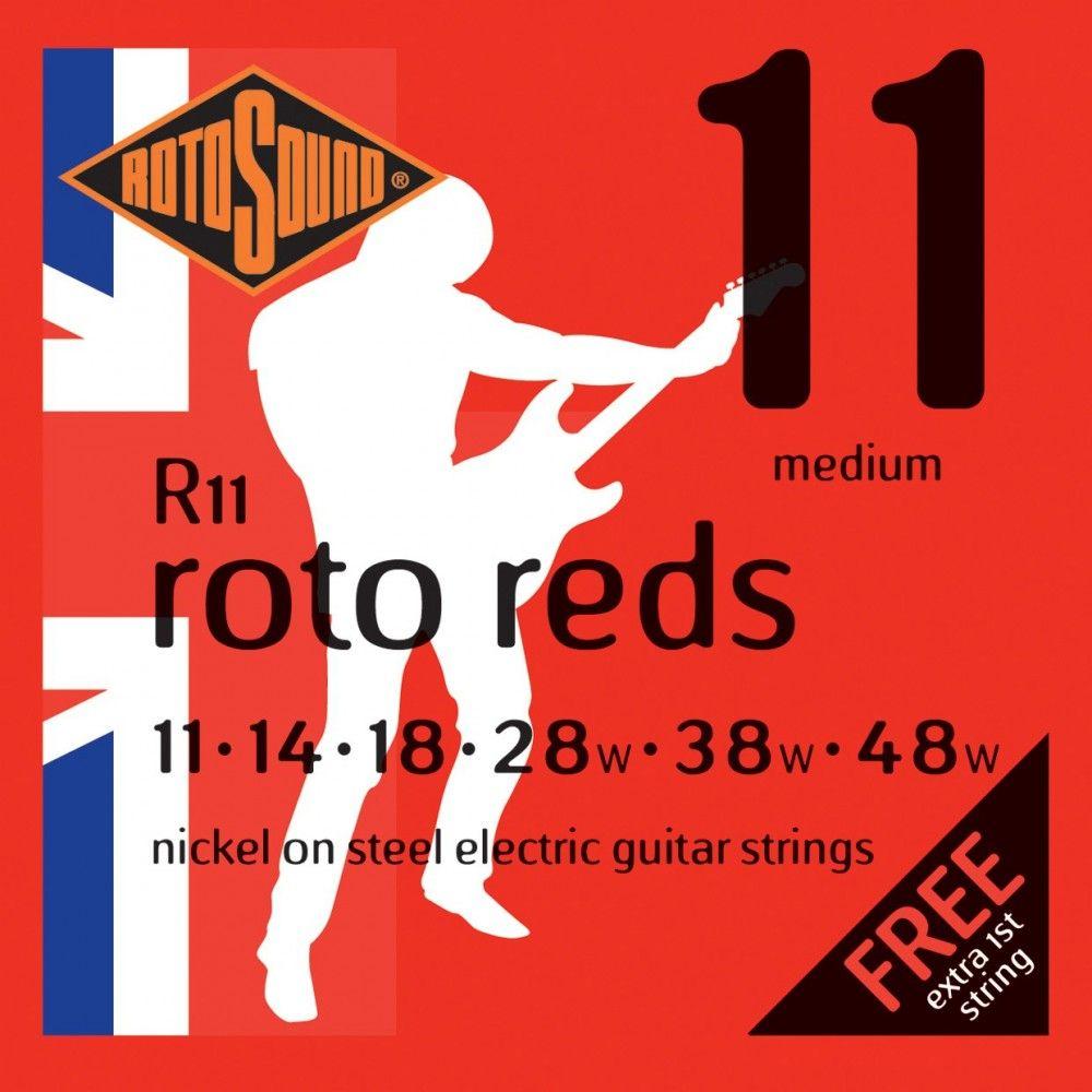 Rotosound Roto Reds R11 - Set Corzi Chitara Electrica 11-48 Rotosound - 1