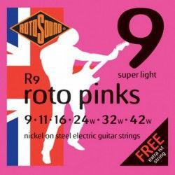 Rotosound Roto Pinks R9 - Set Corzi Chitara Electrica 09-42 Rotosound - 1